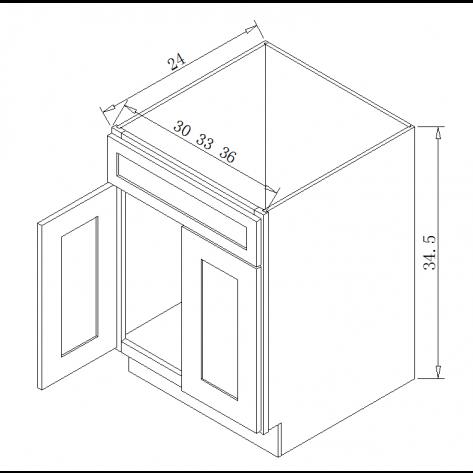 SB30 Sink Base Cabinet