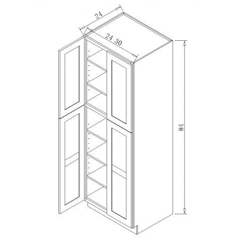 TP242484 Tall Pantry Cabinet