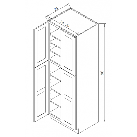 TP302496 Tall Pantry Cabinet